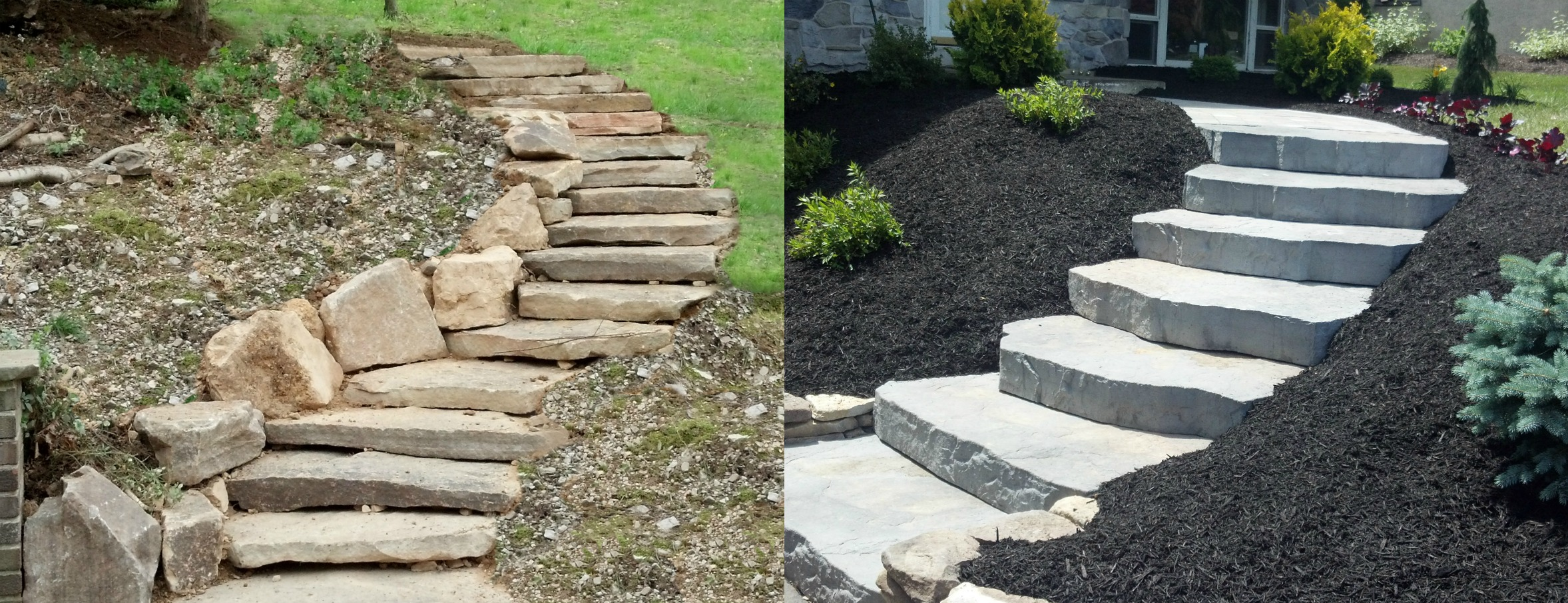 Natural Building Stone Steps : Hardscaping services houp landscaping inc