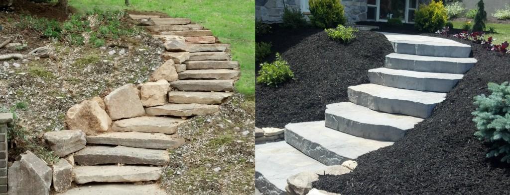 steps, Hardscaping, Landscaping rocks