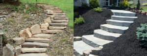 steps landscape design