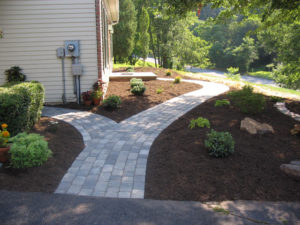 Landscape design before and after